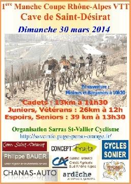 Haut Bugey VTT : Coupe Rhône-Alpes St Désirat