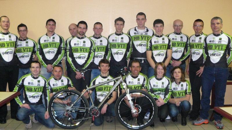 Photo de l'équipe de Haut Bugey VTT février 2012