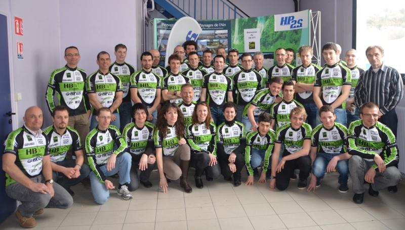 Photo de l'équipe de Haut Bugey VTT mars 2013