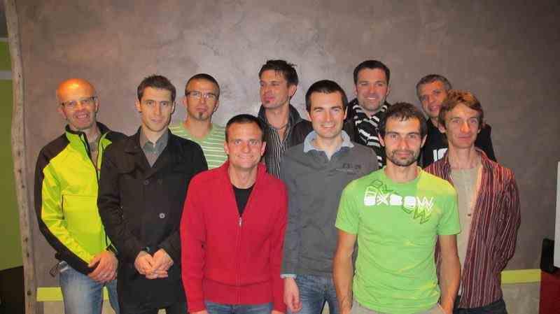 Photo de l'équipe de HB VTT novembre 2011