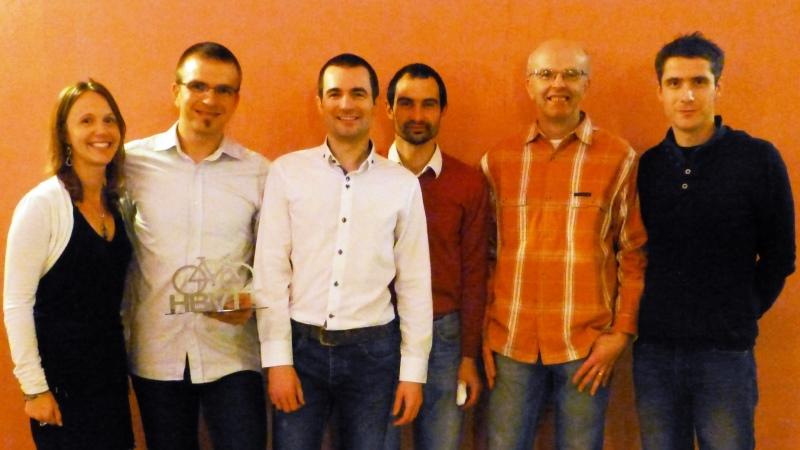 Photo des dirigeants de Haut Bugey VTT novembre 2013
